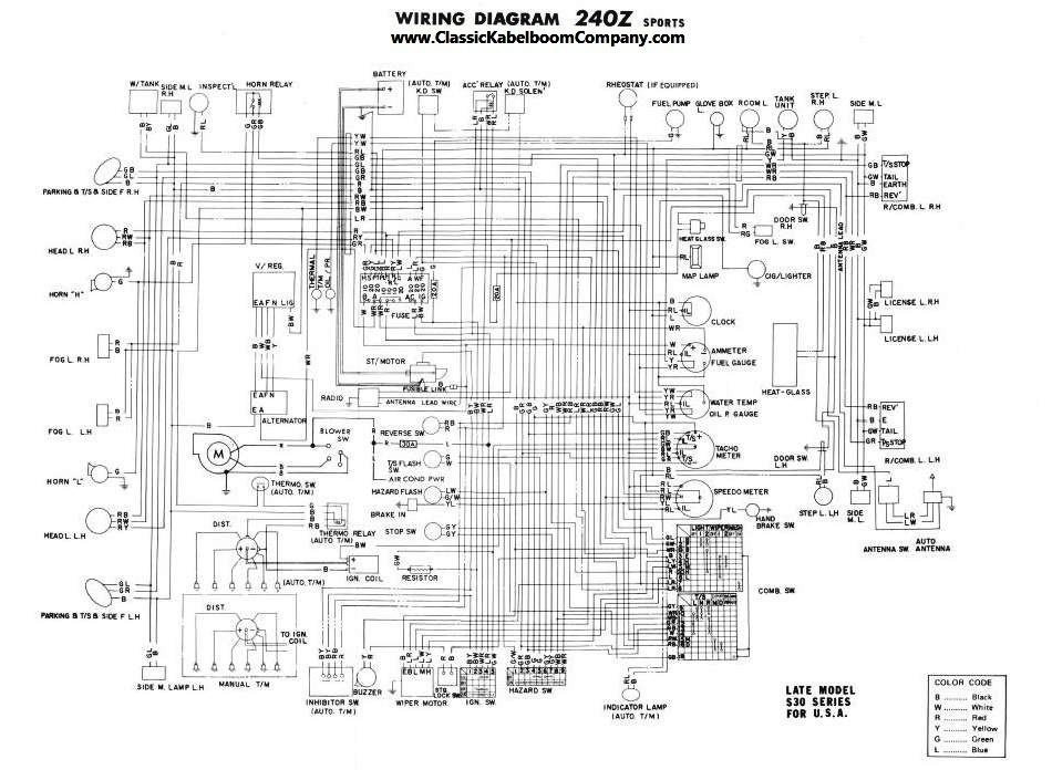 1978 Datsun 280z Tail Light Wiring Diagram on datsun alternator wiring