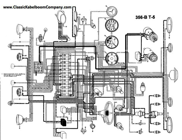 classic kabelboom company bedrading schema s porsche wiring rh classickabelboomcompany com wiring diagram porsche 356 porsche 356 c wiring diagram