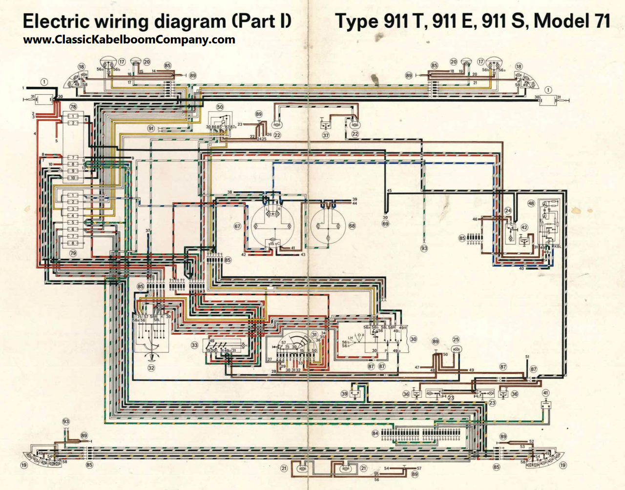 Porsche 911 Wiring Diagram Porsche 911 Wiring Diagram - Wiring Diagrams