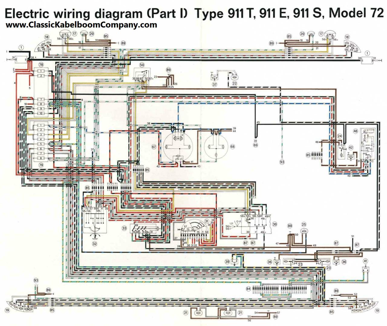 Classic Kabelboom Company - Bedrading schema\'s Porsche wiring ...