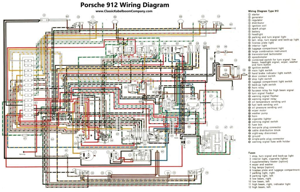 classic kabelboom company bedrading schema s porsche wiring rh classickabelboomcompany com Porsche 912 Wiring-Diagram Porsche 356 Wiring-Diagram