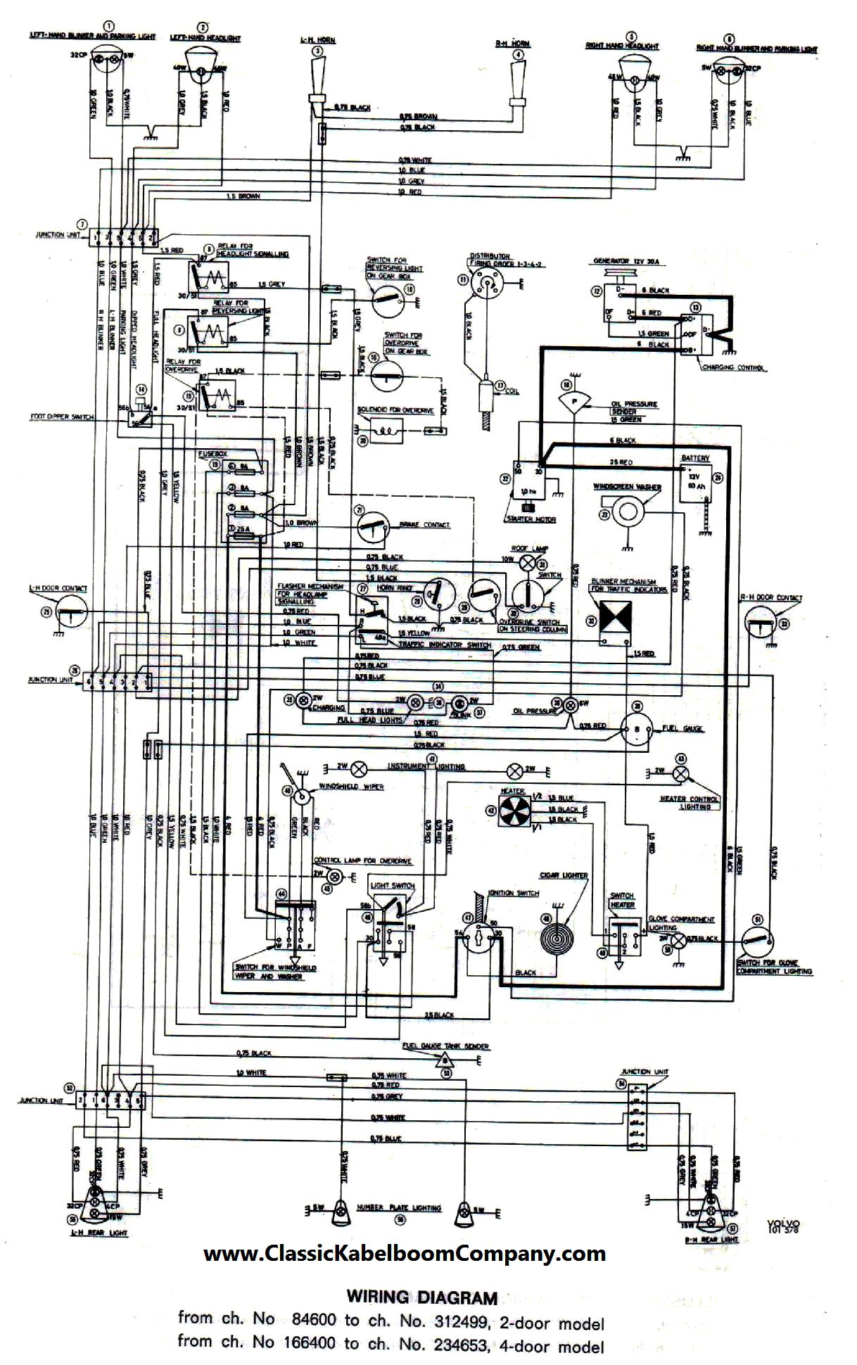 Classic Kabelboom Company - Elektrisch bedrading schema Volvo ...