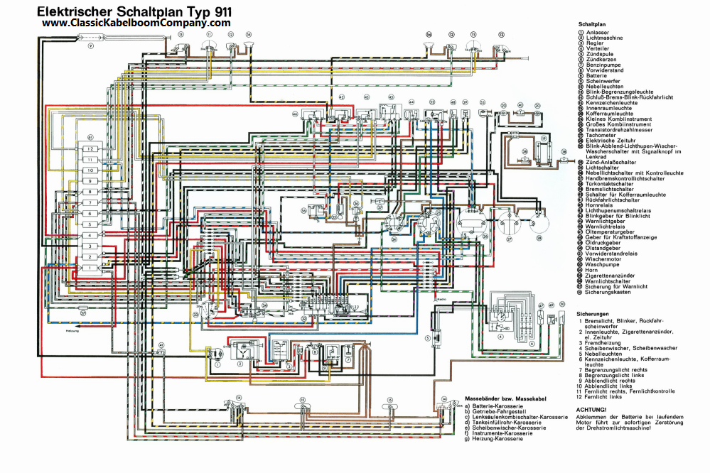 911 1968 1971 porsche 911 wiring diagram porsche wiring diagram gallery 1980 porsche 911 wiring diagram at edmiracle.co