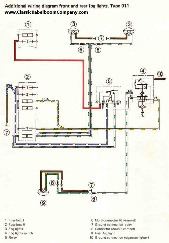 porsche gt3 tail light wiring diagram porsche free wiring diagrams rh dcot org porsche 911 fog light wiring diagram Porsche Wiring-Diagram 911 1973