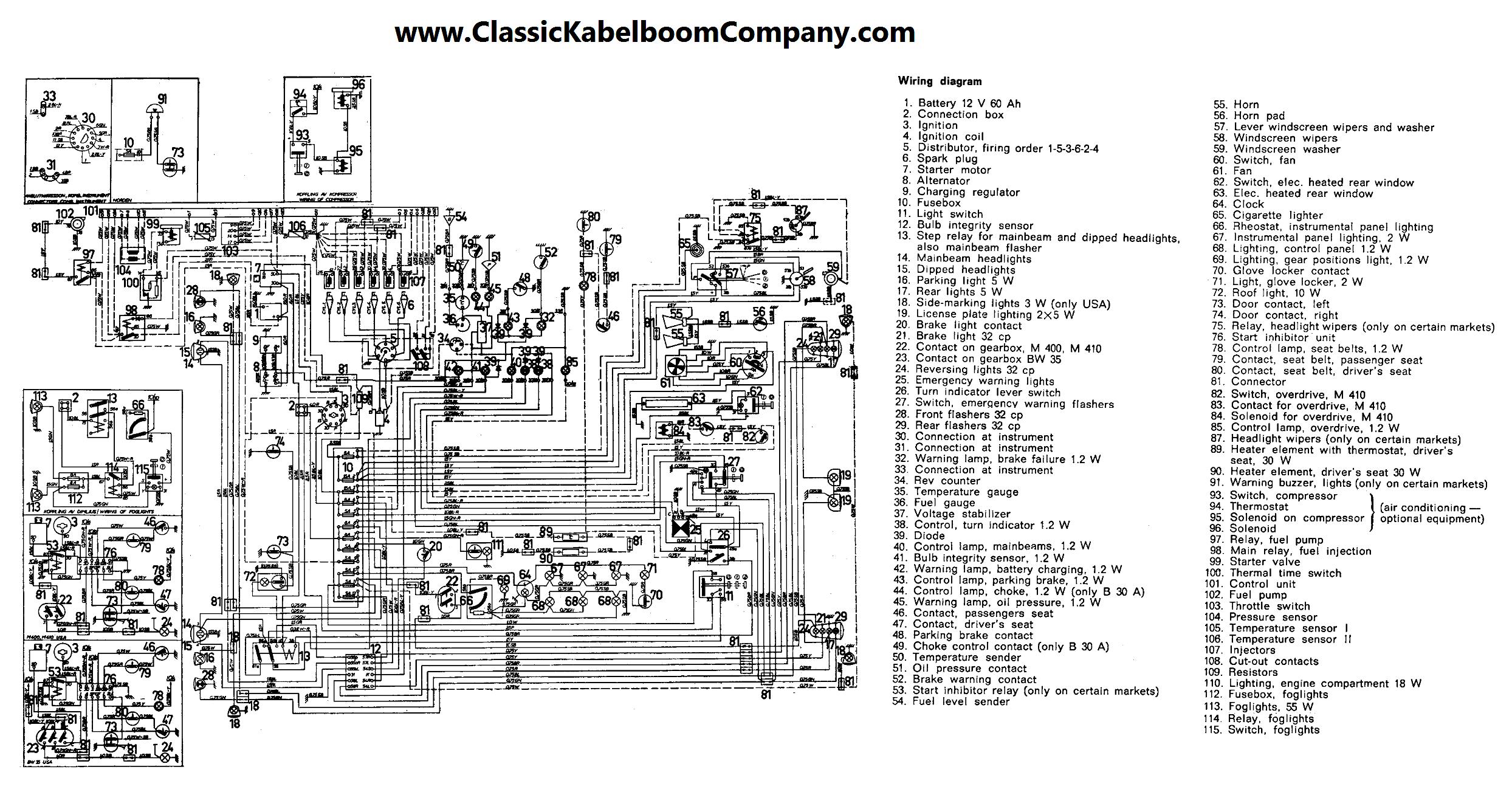 classic kabelboom company elektrisch bedrading schema volvo rh classickabelboomcompany com Volvo S60 Wiring-Diagram Volvo Fuel Pump Wiring Diagram